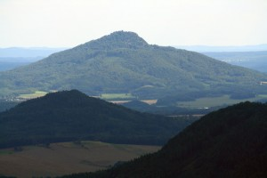 Ralsko - the highest peak of the Wolf Mountains in the Macha County, Czech Republic